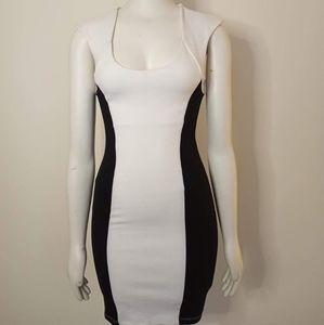 Juniors Charlotte Russe black & white dress